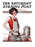 """Dirty Dishes,"" Saturday Evening Post Cover, February 23, 1924 Giclee Print by Walter Beach Humphrey"