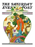 """Oriental Vase,"" Saturday Evening Post Cover, April 5, 1930 Giclee Print by Henry Soulen"