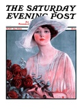 """Bouquet of Roses,"" Saturday Evening Post Cover, May 24, 1924 Giclee Print by Penrhyn Stanlaws"