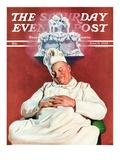 """Cake Dream,"" Saturday Evening Post Cover, June 11, 1938 Giclee Print by John Newton Howitt"