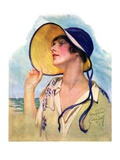 """Woman at the Shore,""August 20, 1927 Giclee Print by Bradshaw Crandall"