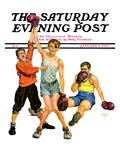 """Boxing Champ,"" Saturday Evening Post Cover, January 9, 1937 Giclee Print by Monte Crews"