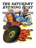 """Shore Leave,"" Saturday Evening Post Cover, August 8, 1931 Giclee Print by Elbert Mcgran Jackson"
