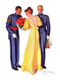"""Courting Cadets,""May 16, 1936 Giclee Print by R.J. Cavaliere"