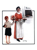"""Flowers for Pie,""June 6, 1925 Giclee Print by Angus MacDonall"