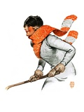 &quot;Women&#39;s Ice Hockey,&quot;February 21, 1925 Giclee Print by James Calvert Smith