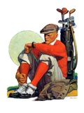"""Golfer Kept Waiting,""September 12, 1931 Giclee Print by John E. Sheridan"