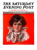 """Little Angel,"" Saturday Evening Post Cover, December 19, 1925 Giclee Print by Neil Hott"