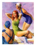 """Three Bathing Beauties,""July 8, 1933 Giclee Print by John LaGatta"