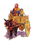 """Gypsy Wagon,""May 2, 1936 Giclee Print by Henry Soulen"