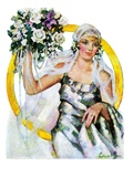 """Bride and Bouquet,""October 13, 1928 Giclee Print by Ellen Pyle"