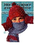"""Bundled Up,"" Saturday Evening Post Cover, January 14, 1939 Giclee Print by Douglas Crockwell"