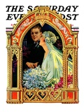 """June Bridal Couple,"" Saturday Evening Post Cover, June 22, 1929 Giclee Print by Elbert Mcgran Jackson"