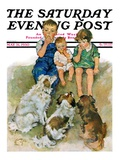"""Doggie Beggars,"" Saturday Evening Post Cover, May 31, 1930 Giclee Print by Ellen Pyle"