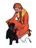 """Woman and Scottie,""April 16, 1932 Giclee Print by McClelland Barclay"