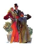 """Taxi!,""February 27, 1932 Giclee Print by John LaGatta"