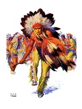 """Dancing Warrior,""April 4, 1936 Giclee Print by William Henry Dethlef Koerner"