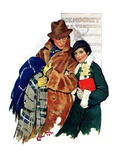 &quot;Date at Hockey Game,&quot;March 12, 1932 Giclee Print by Ellen Pyle