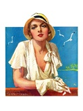 """Woman in White,""June 18, 1932 Giclee Print by Tempest Inman"