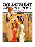 """'Marge Loves David',"" Saturday Evening Post Cover, August 10, 1935 Giclee Print by George Brehm"
