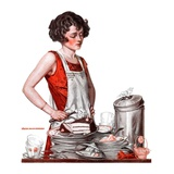 """Dirty Dishes,""February 23, 1924 Giclee Print by Walter Beach Humphrey"