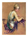 """Pastel Portrait,""January 24, 1931 Giclee Print by Guy Hoff"