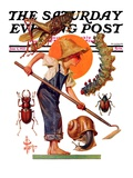 """""""Garden Pests,"""" Saturday Evening Post Cover, June 4, 1932 Giclee Print by J.C. Leyendecker"""