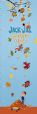 Jack and Jill - Autumn Leaves Growth Chart Wall Decal