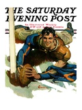 """Touchdown,"" Saturday Evening Post Cover, November 21, 1931 Giclee Print by Elbert Mcgran Jackson"
