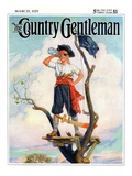 """Playing Pirate,"" Country Gentleman Cover, March 1, 1929 Giclee Print by William Meade Prince"