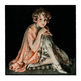 """Pensive Woman,""February 9, 1924 Giclee Print by Pearl L. Hill"