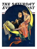 """Crescent Moon Couple,"" Saturday Evening Post Cover, June 14, 1930 Giclee Print by Elbert Mcgran Jackson"