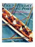 """Scullers,"" Saturday Evening Post Cover, June 25, 1938 Giclee Print by Michael Dolas"