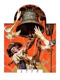 """Ringing Liberty Bell,""July 6, 1935 Giclee Print by Joseph Christian Leyendecker"