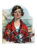"""Woman Sailor,""October 15, 1927 Giclee Print by William Haskell Coffin"