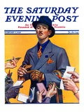 """Movie Idol,"" Saturday Evening Post Cover, February 5, 1938 Giclee Print by Edgar Franklin Wittmack"