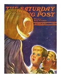 """Trick or Treaters,"" Saturday Evening Post Cover, October 30, 1937 Giclee Print by Robert B. Velie"