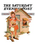 """""""No Girls Allowed,"""" Saturday Evening Post Cover, October 9, 1937 Giclee Print by Frances Tipton Hunter"""