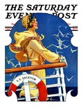 """S. S. Vacation,"" Saturday Evening Post Cover, July 20, 1929 Giclee Print by Elbert Mcgran Jackson"