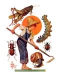 """Garden Pests,""June 4, 1932 Giclee Print by Joseph Christian Leyendecker"