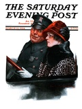 """Police Escort,"" Saturday Evening Post Cover, March 15, 1924 Giclee Print by Charles A. MacLellan"