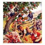 """Stealing Apples,""October 1, 1937 Giclee Print by William Meade Prince"