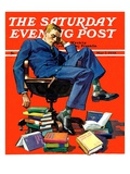 """Motivated to Sleep,"" Saturday Evening Post Cover, May 7, 1938 Giclee Print by John E. Sheridan"