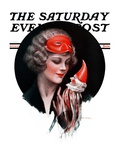 """Holloween Puppet,"" Saturday Evening Post Cover, October 31, 1925 Giclee Print by Charles Sheldon"