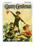 """Boy Scouts,"" Country Gentleman Cover, September 1, 1930 Reproduction procédé giclée par William Meade Prince"