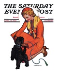 """Woman and Scottie,"" Saturday Evening Post Cover, April 16, 1932 Giclee Print by McClelland Barclay"