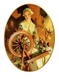 """Spinning Wheel,""March 14, 1931 Giclee Print by Joseph Christian Leyendecker"