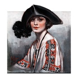 """Woman in Embroidered Blouse,""May 5, 1923 Giclee Print by Neysa Mcmein"