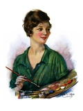 """Woman Artist and Her Palette,""April 28, 1928 Giclee Print by William Haskell Coffin"