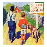 """Back to School,""September 1, 1935 Giclee Print by William Meade Prince"